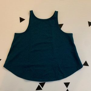Lululemon size 2 High Neck Trapeze Top Green
